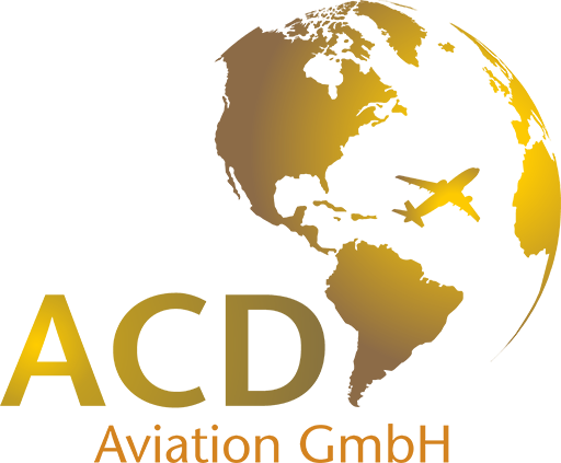 ACD Aviation Logo - golden Earth Globe